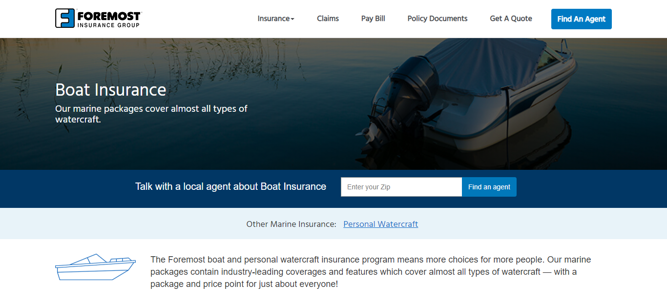 Foremost Boat Insurance