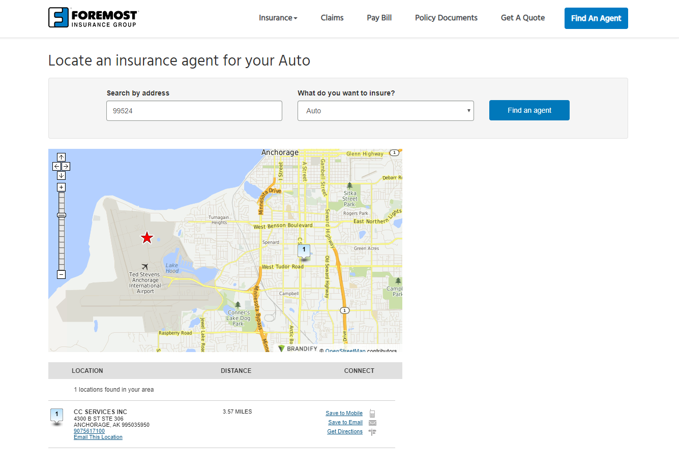 foremost insurance agency locator